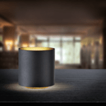 COZY ROUND TABLE LED BLACK/GOLD